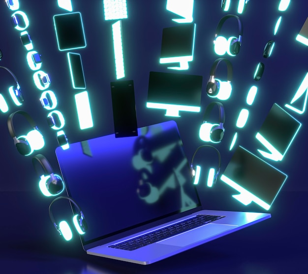 Icono de evento cyber monday con dispositivos