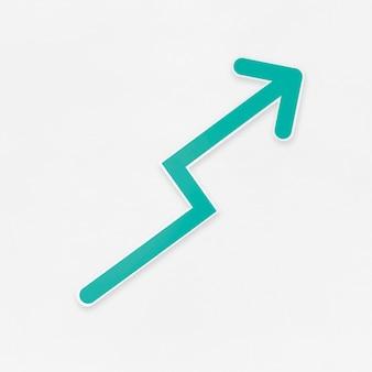 Icono de flecha de crecimiento aislado