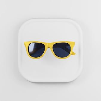 Icono de gafas de sol con marco amarillo