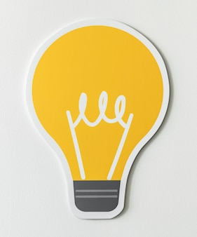 Icono de ideas de bombilla creativa