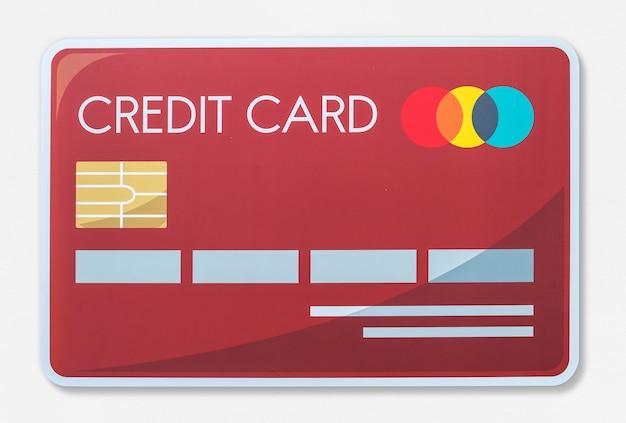 Icono de ilustración de vector de tarjeta de crédito