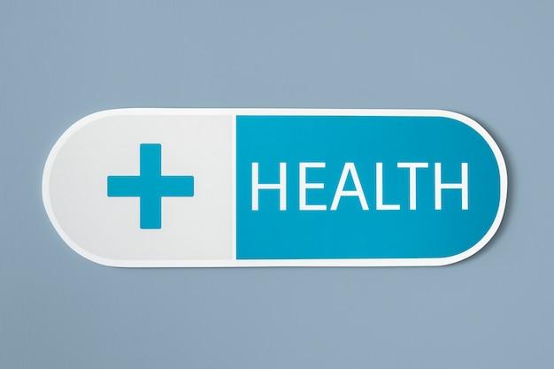 Icono médico de salud y medicina