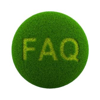 Icono de preguntas frecuentes de esfera de hierba