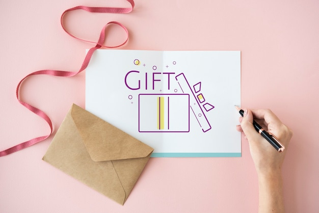 Icono de presente de caja de regalo festivo