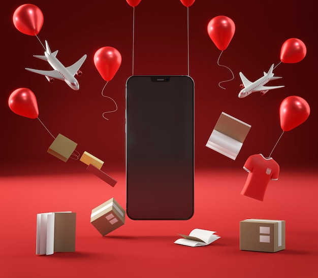 Icono de smartphone para venta especial de viernes negro