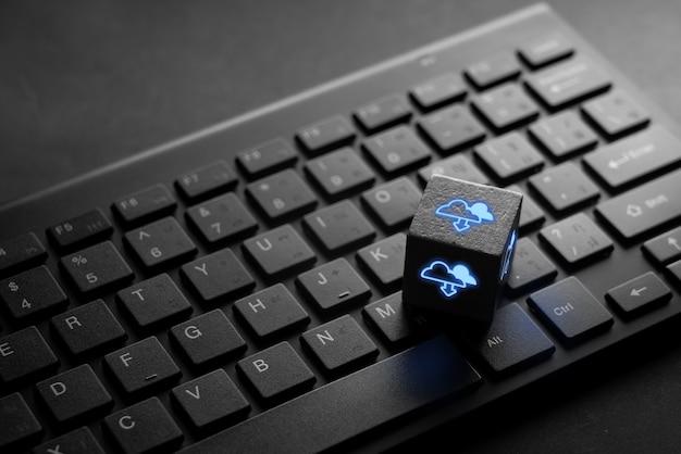 Icono de la tecnología en la nube para el concepto de negocio global de compras en línea en el teclado negro
