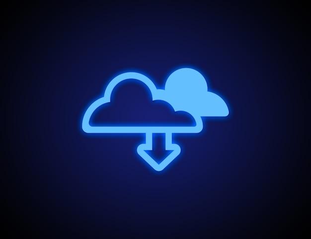 Icono de tecnología de nube para la ilustración del concepto de negocio global