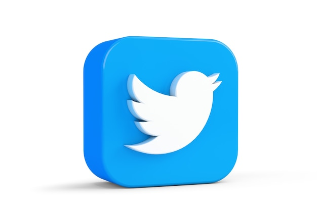 Icono de twitter aislado del fondo