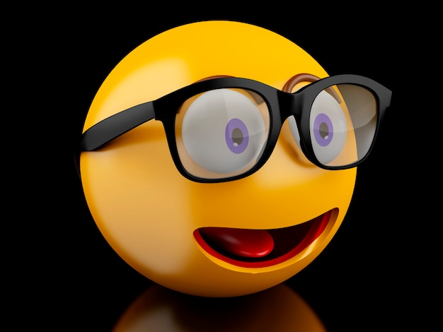 Iconos de emoji 3d con expresiones faciales.