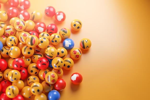 Iconos de emoji con expresiones faciales.