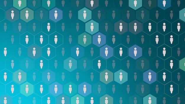 Iconos de persona sobre fondo de red simple. estilo dinámico elegante y de lujo para plantilla empresarial, corporativa y social.