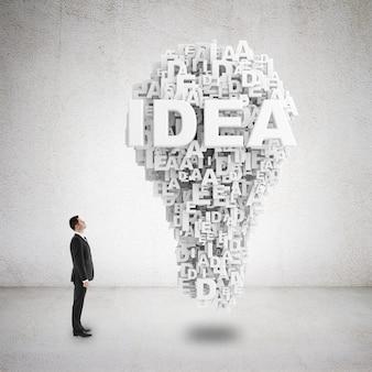 Idea bombilla creativa