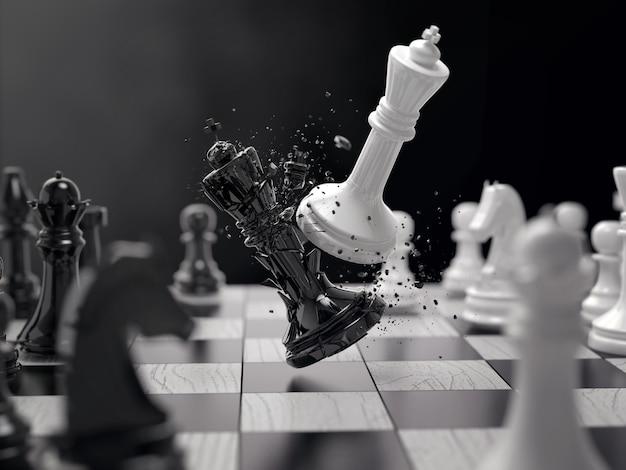 Idea de concepto de batalla de ajedrez