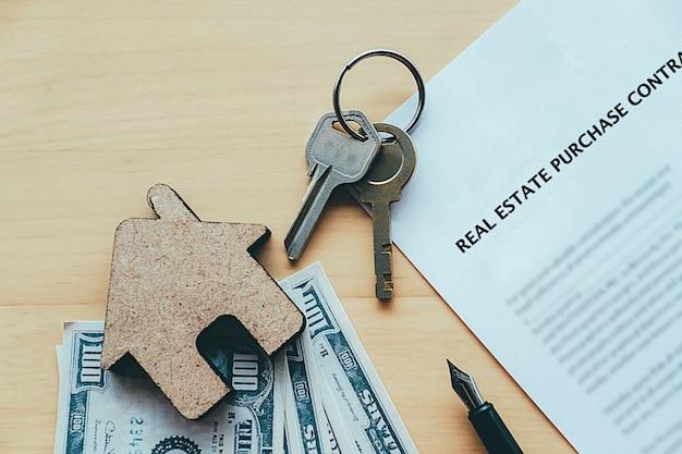 Idea de concepto de compra de bienes raíces.