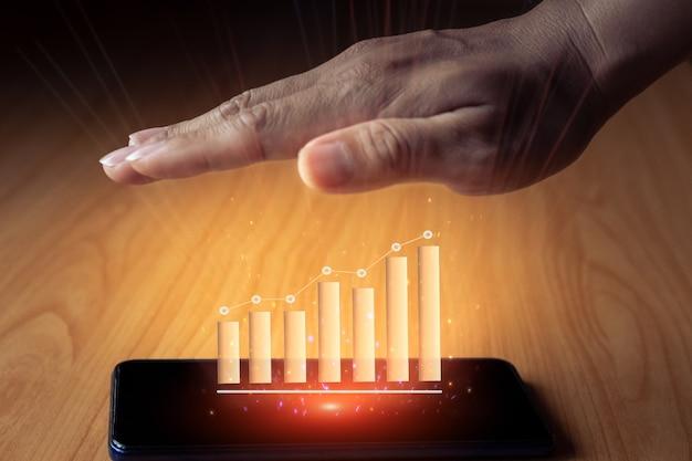 Idea de concepto de foto de seo de marketing digital con infografía