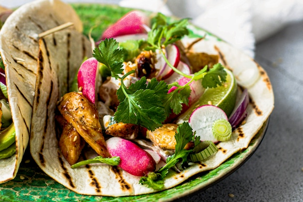 Idea de receta de comida de tacos de pollo caseros