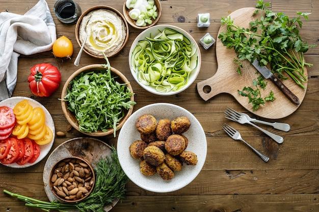 Idea de receta de falafel de camote para veganos