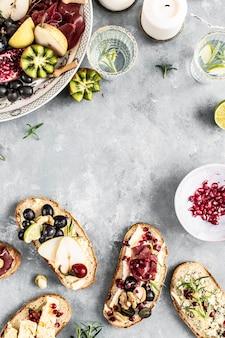 Idea de receta de fotografía de comida de plato de queso