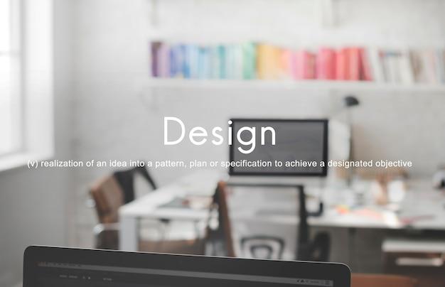 Ideas de diseño creativo concepto de innovación empresarial