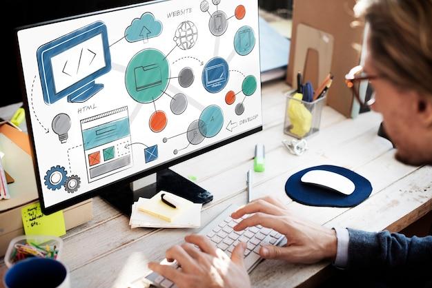 Ideas de estilo de desarrollo de diseño web concepto de sitio web