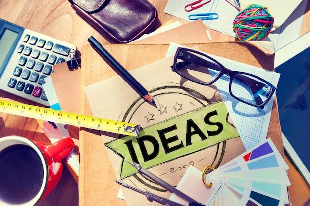 Ideas visión misión creativa solución cocnept