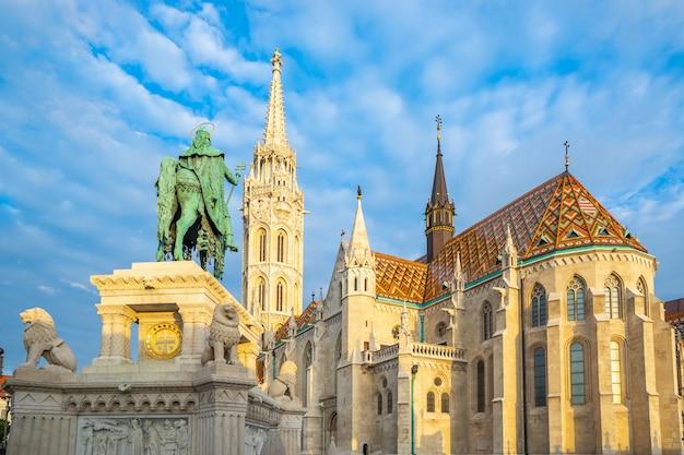 Iglesia de matías en la ciudad de budapest, hungría