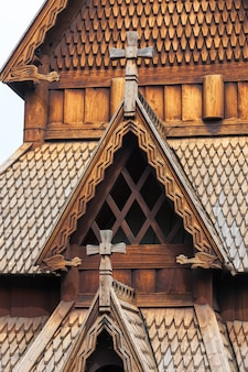Iglesia vieja de noruega