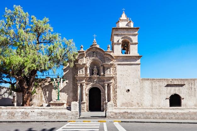 Iglesia de yanahuara en arequipa en perú