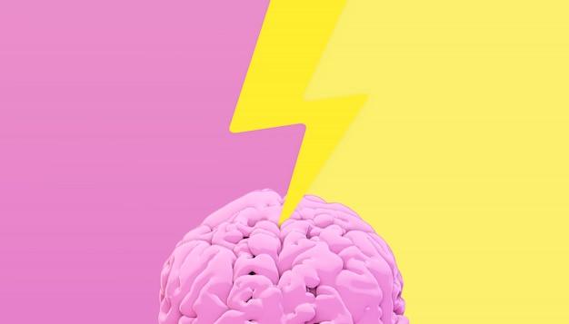 Iluminación cerebro render 3d