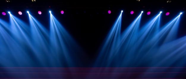 Iluminación de concierto en sala de conciertos