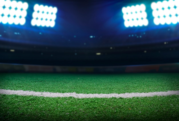 Iluminación del estadio de fútbol