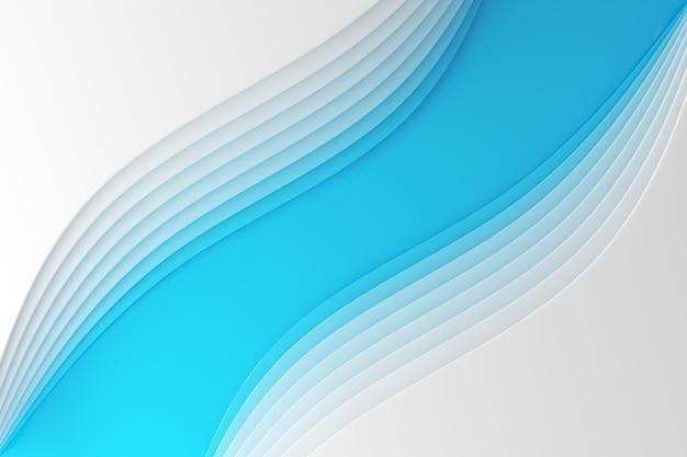 Ilustración 3d de una banda estéreo de diferentes colores. rayas geométricas similares a ondas.