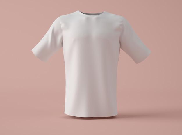 Ilustración 3d camiseta blanca en blanco.