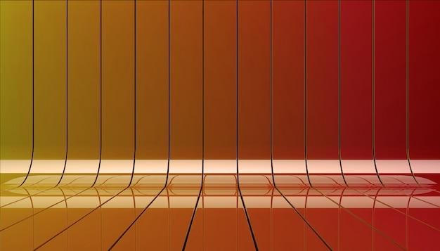 Ilustración 3d de cintas naranjas.
