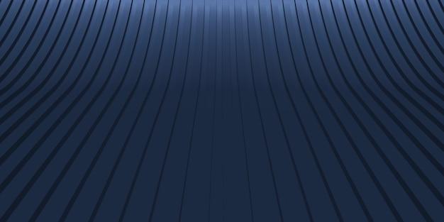 Ilustración 3d de escena de línea curva de fondo