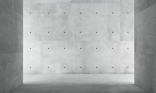 Ilustración 3d. muro de hormigón gris