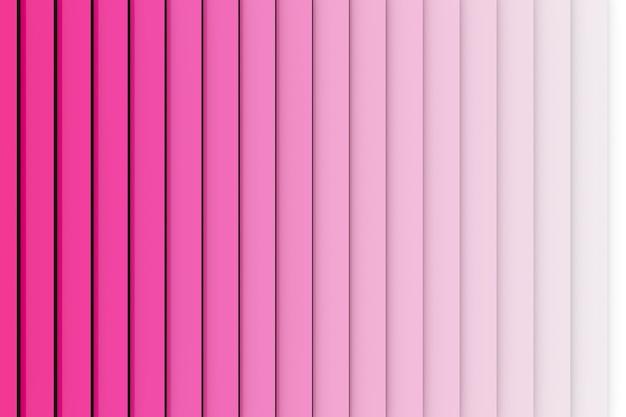 Ilustración 3d patrón de color rosa en estilo ornamental geométrico de rayas verticales