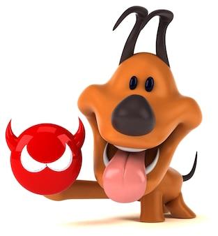 Ilustración 3d de perro divertido