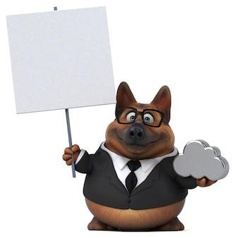 Ilustración 3d de perro pastor alemán