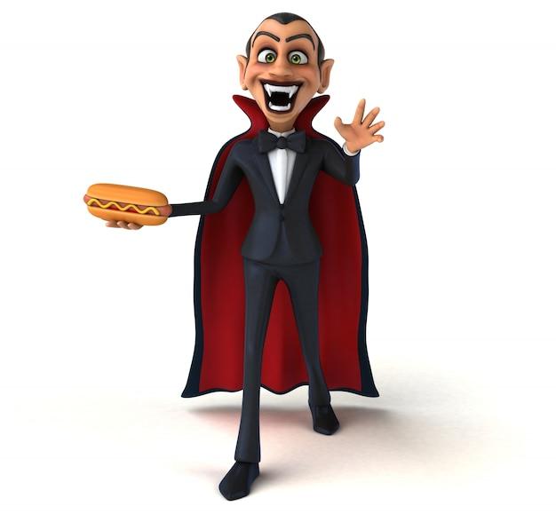 Ilustración 3d de personaje de vampiro