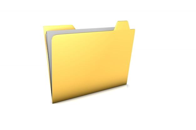 Ilustración 3d prestados de una carpeta de torneado