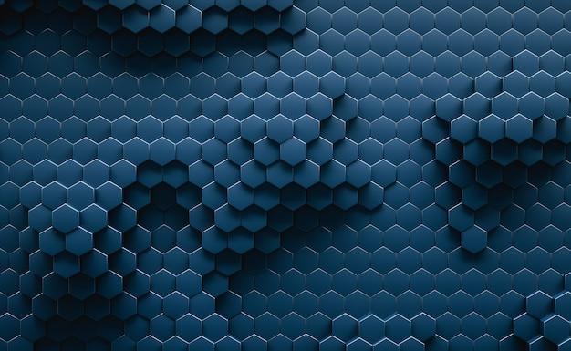 Ilustración 3d. resumen hexagonal geométrico