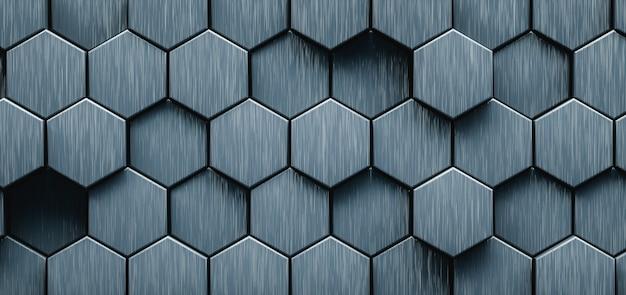 Ilustración 3d. resumen hexagonal