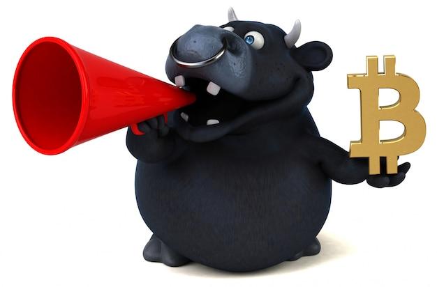 Ilustración 3d toro divertido