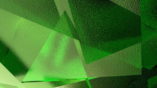 Ilustración abstracta de un fondo verde