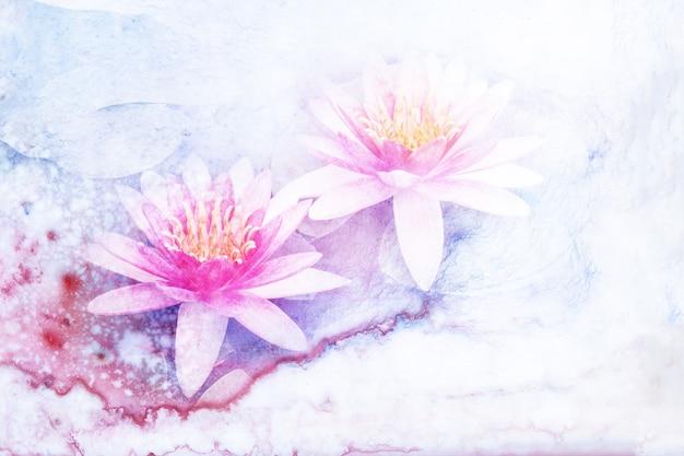 Ilustración acuarela de flores.