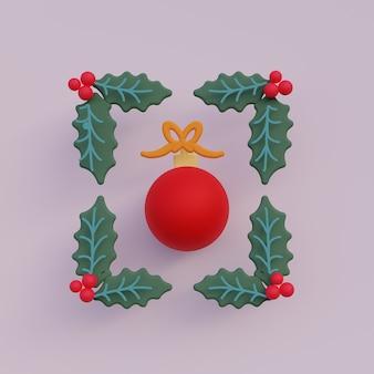 Ilustración de adorno de navidad