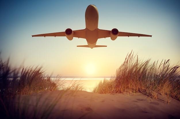 Ilustración de un avión volador