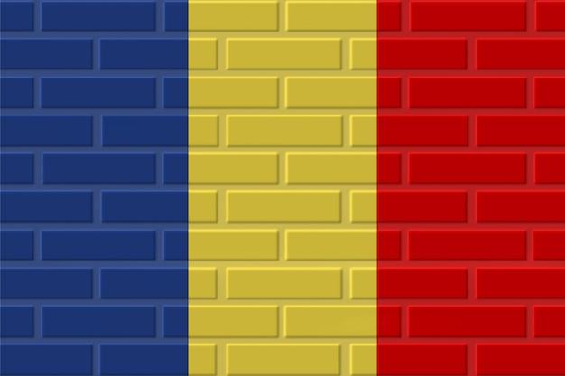 Ilustración de bandera de ladrillo chad