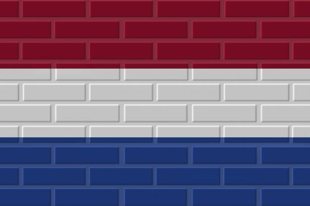 Ilustración de bandera de ladrillo de países bajos